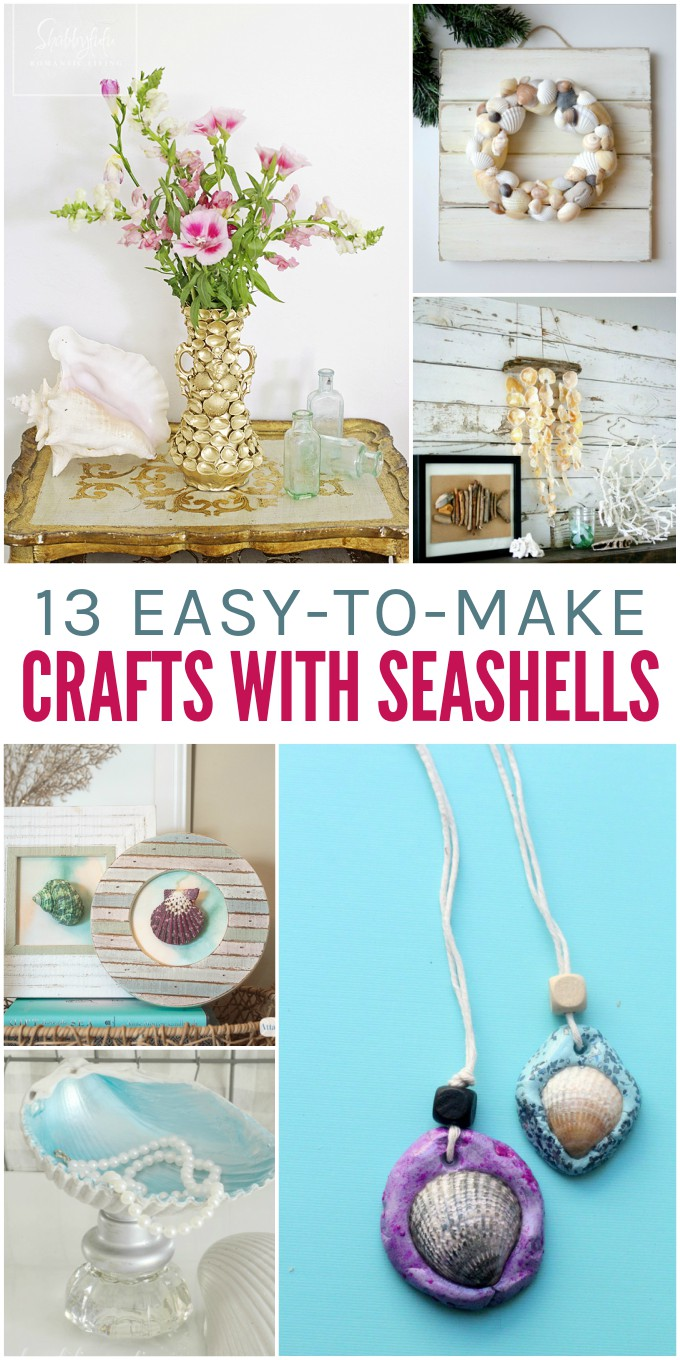 13 Easy-to-Make Crafts with Seashells