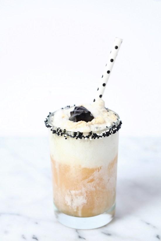 boozy vanilla bean floats