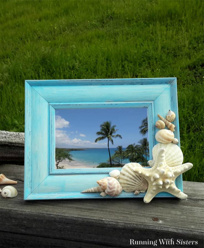 diy seashell frame