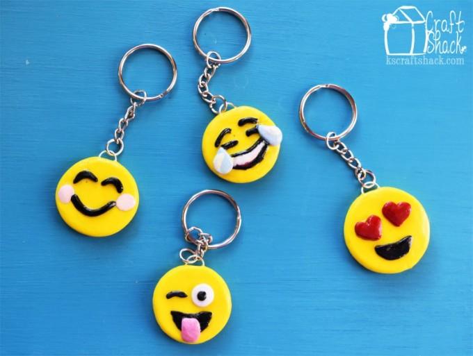 DIY emoji keychains
