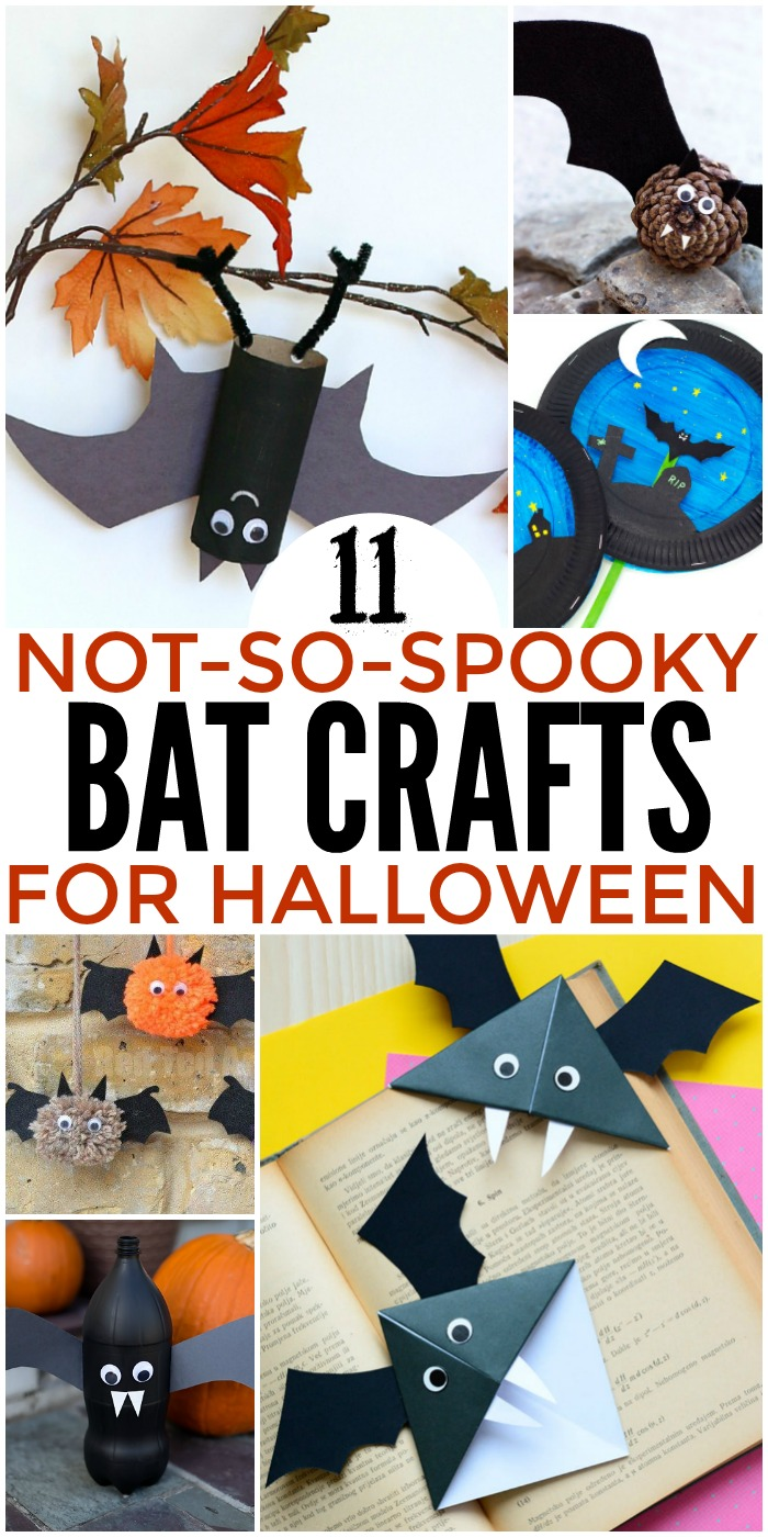 11 Not So Spooky Bat Crafts for Halloween