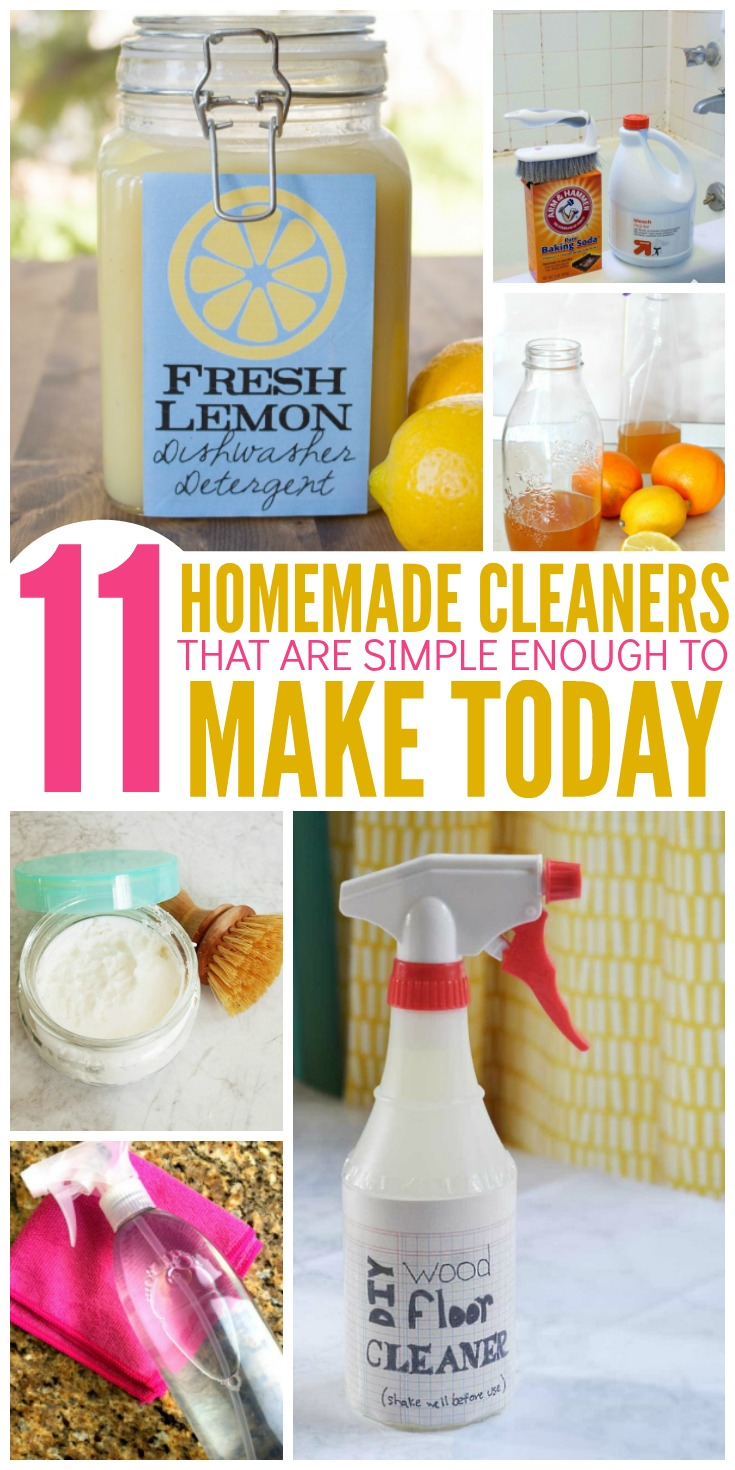 11 Easy Homemade Cleaners You Can Make Today with Ingredients You Already Have at Home