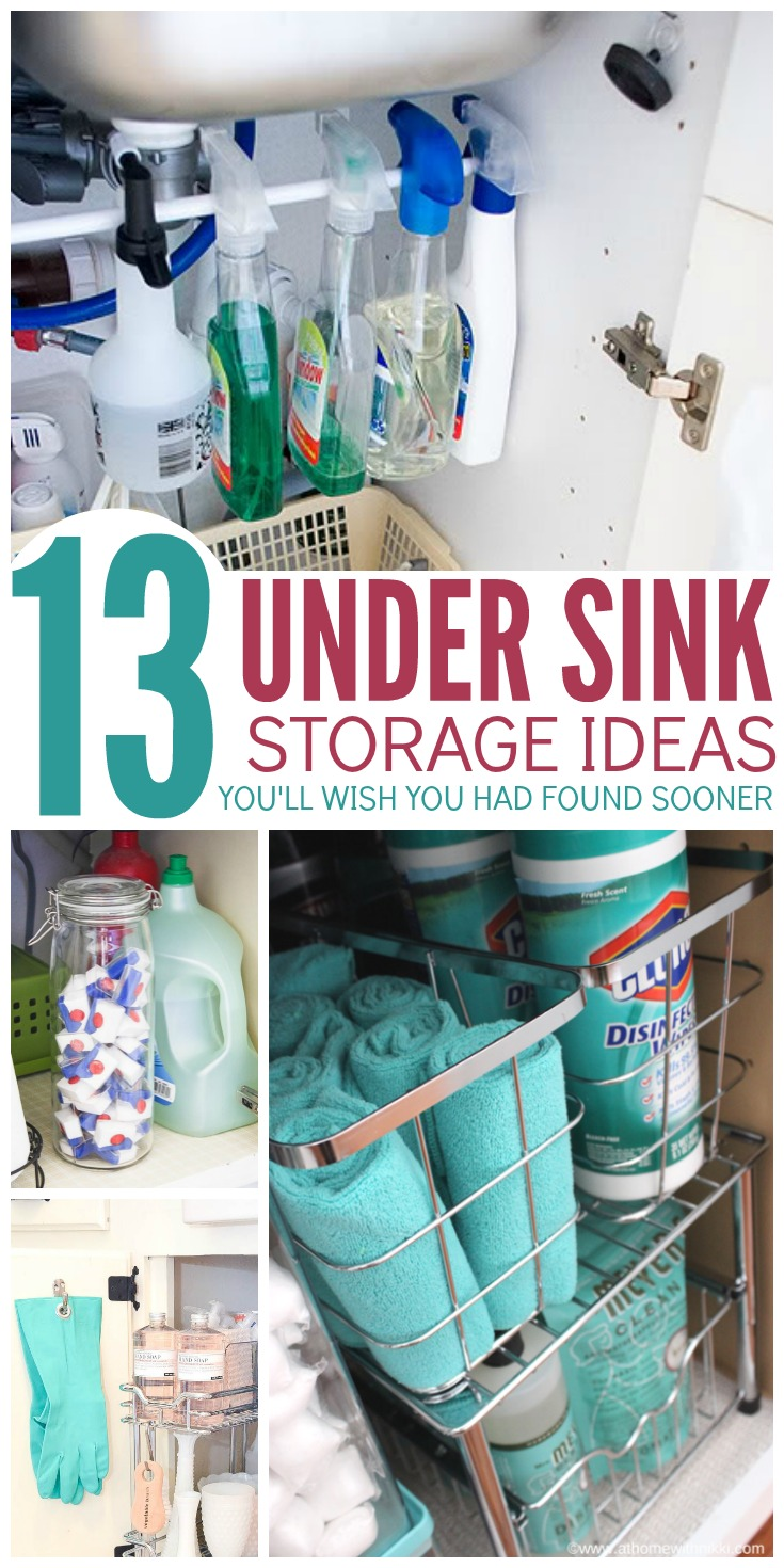 Make the most of your cabinet space with these under sink storage ideas you'll WISH you had found sooner. So clever!