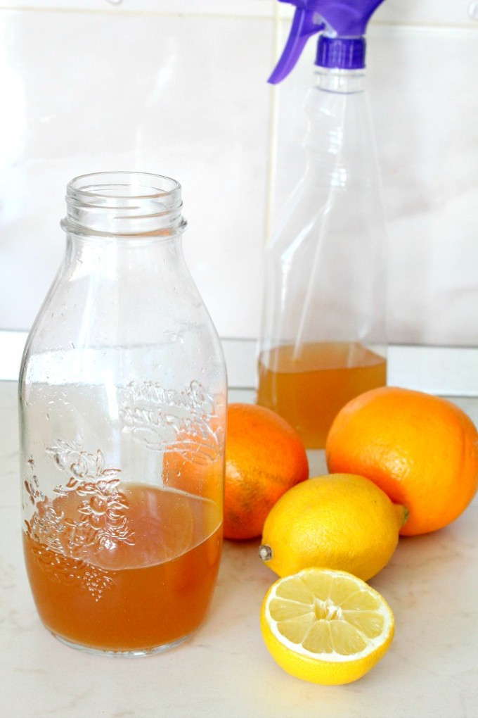 homemade citrus vinegar cleaner