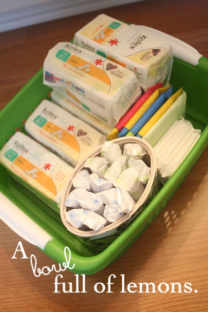 how to store pads and tampons