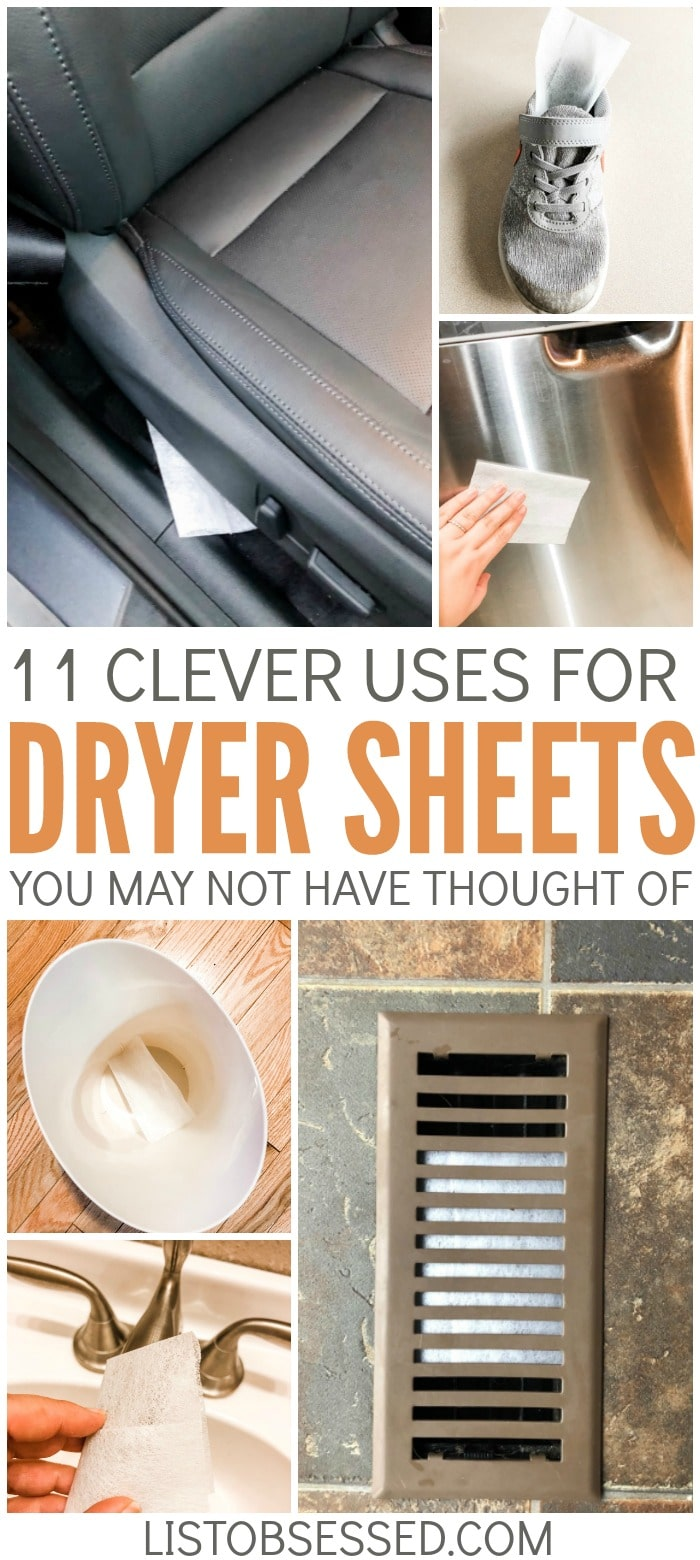 You use dryer sheets on your laundry all the time, but did you know they're great for cleaning and freshening other parts of your home? Just read these 11 tips. #3 is great!