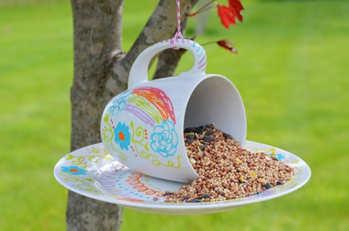 Paint Pen Coffee Mug Bird Feeders