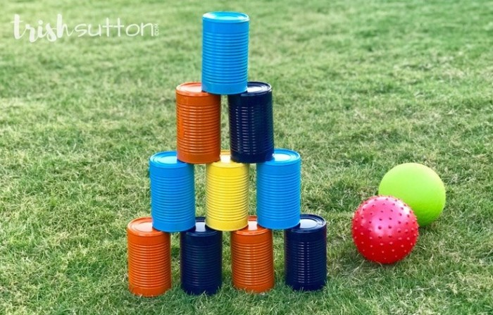 tin can bowling game