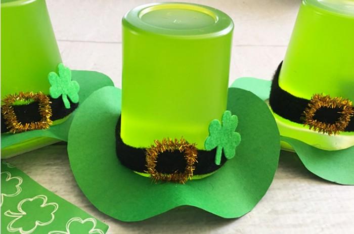 jello cup leprechaun hats