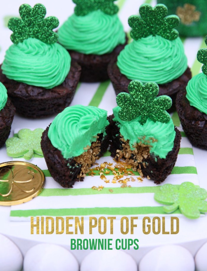 pot of gold brownie cups
