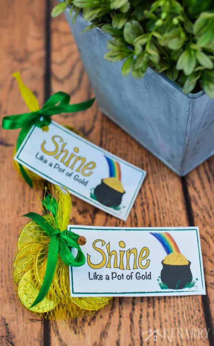 pot of gold treat tags