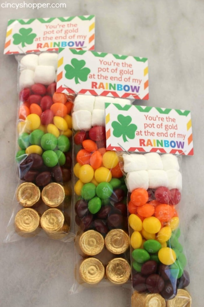 rainbow skittles treat bags