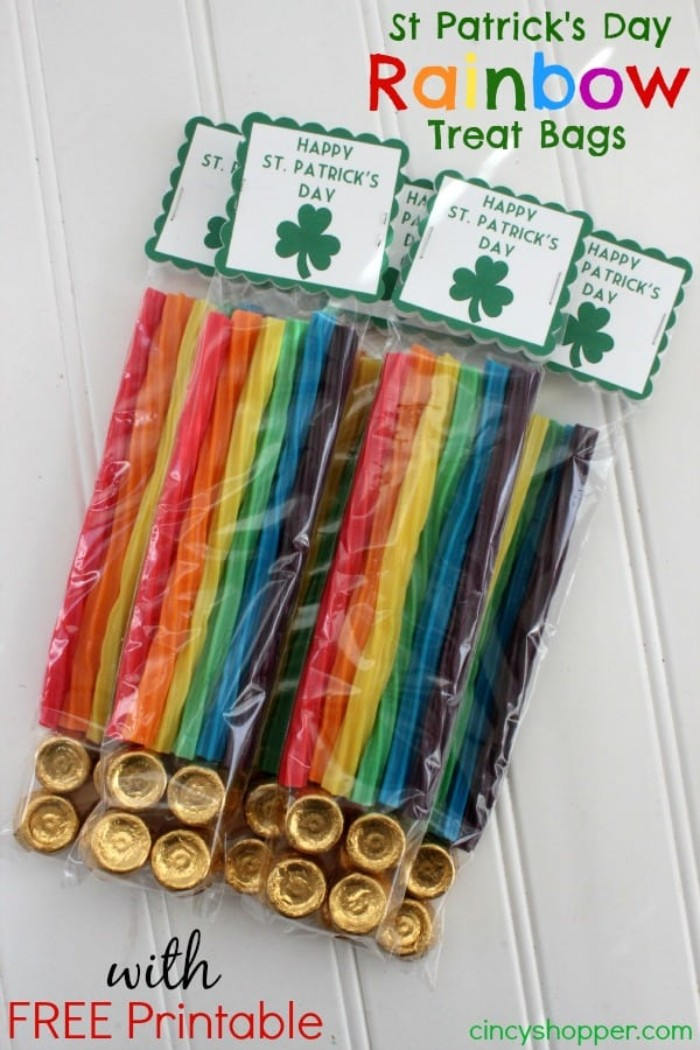 rainbow treat bags