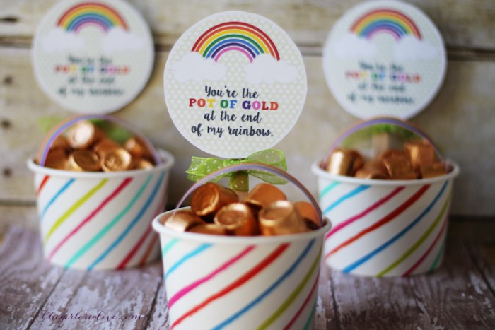 rainbow treat cups
