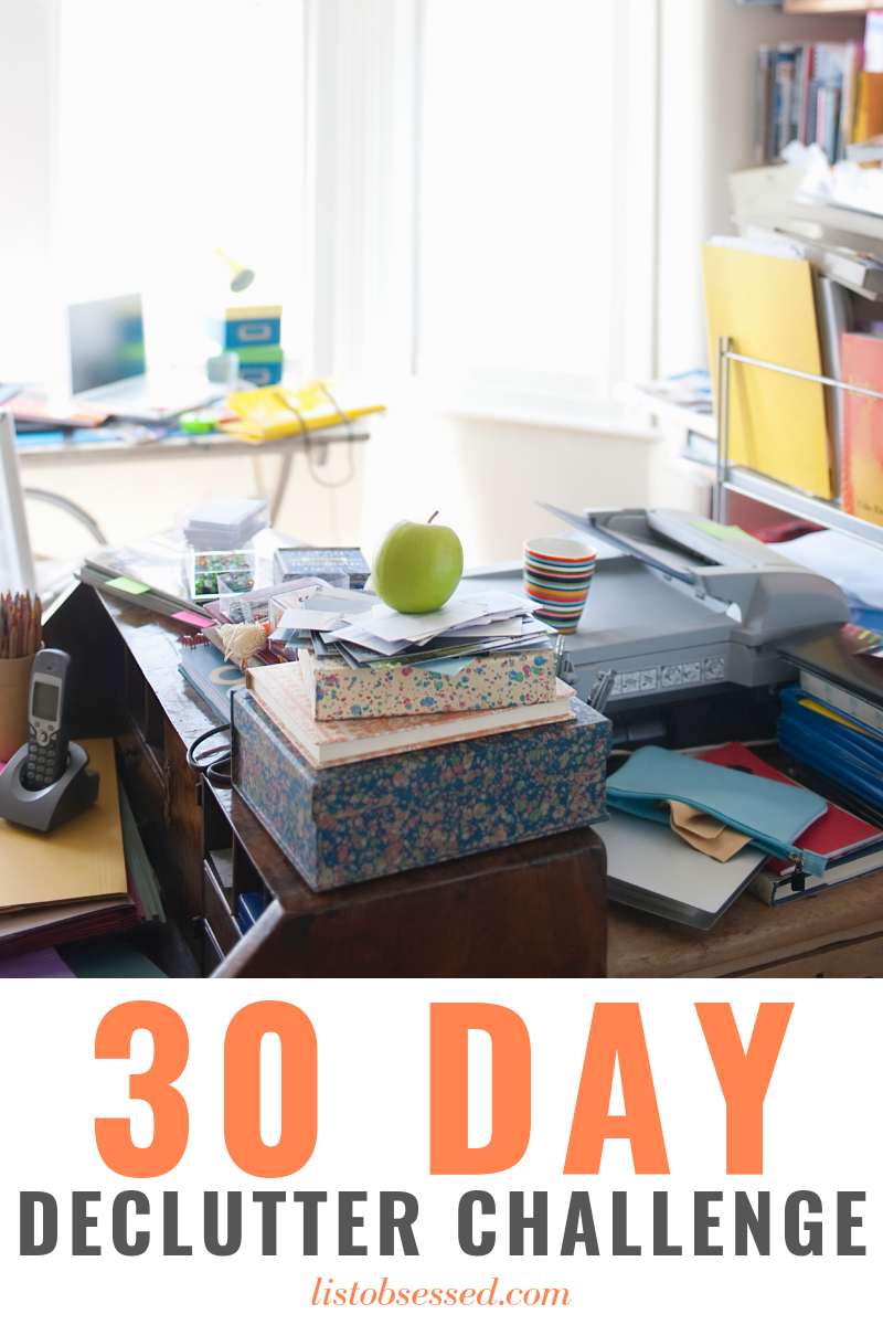 Use this printable 30 day declutter challenge to get your house in order, one small piece at a time.
