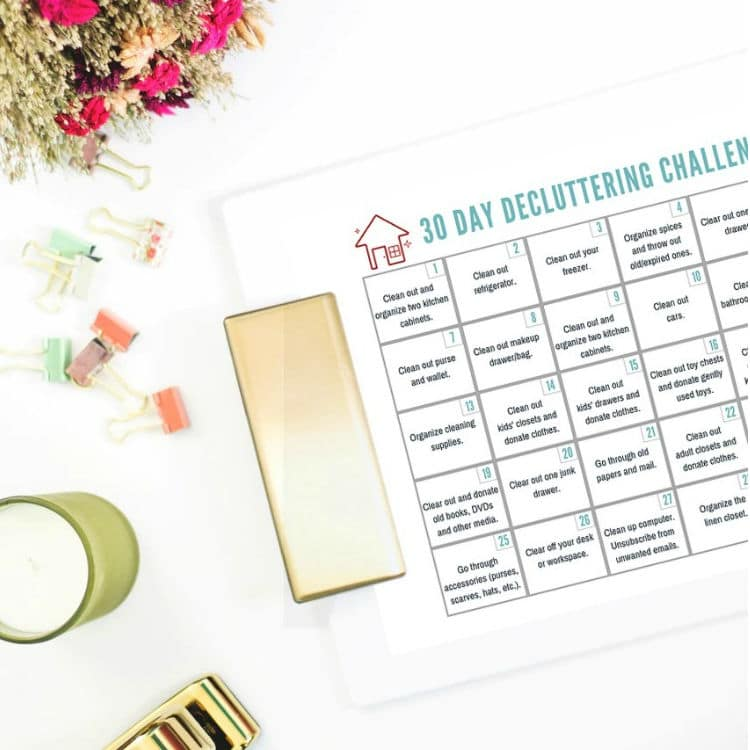 30 Day Declutter Challenge to Get Your House in Order