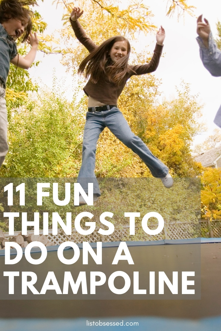11 Fun Things to Do on a Trampoline - get the family active together with these games and activities!