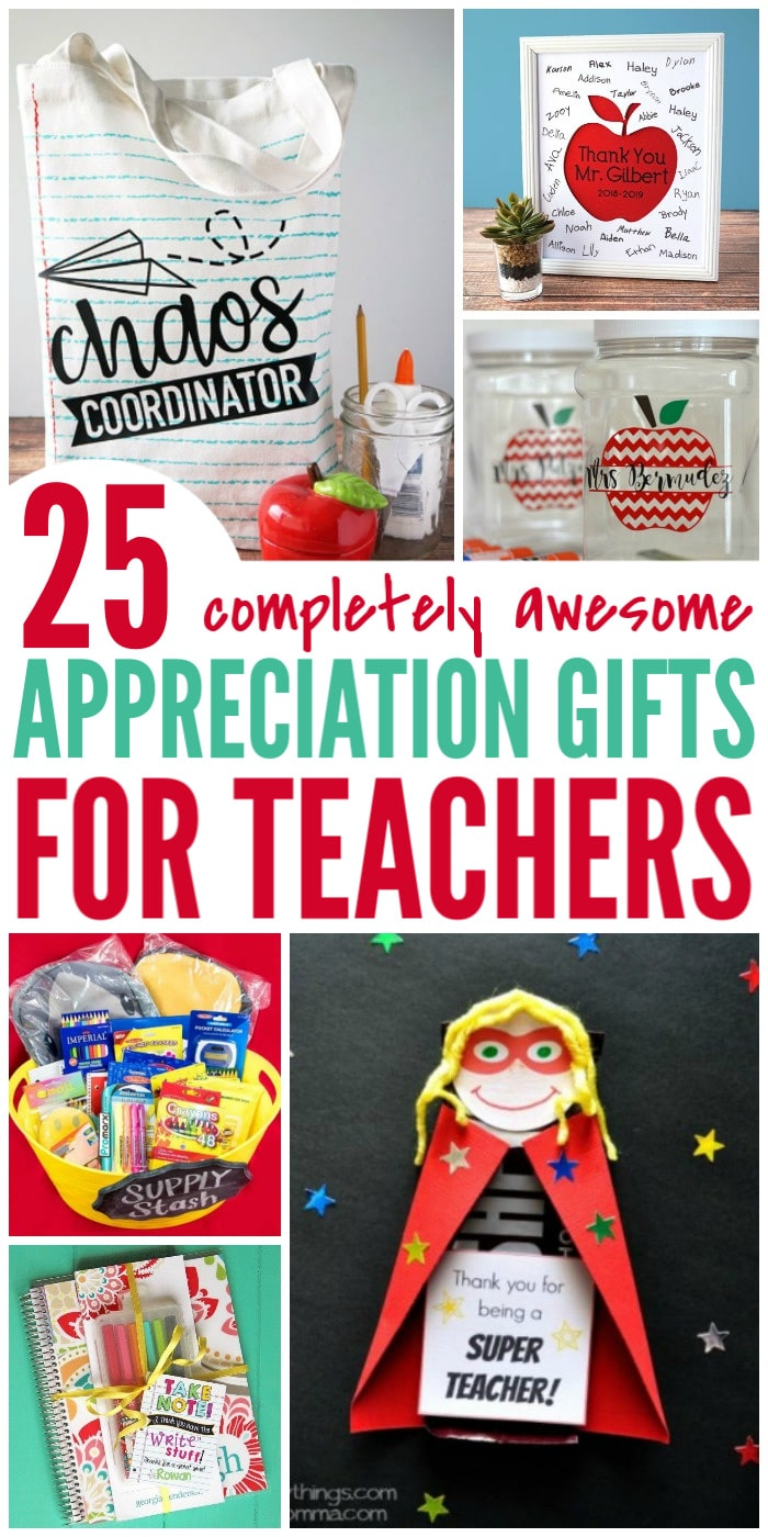 25 Awesome Teacher Appreciation Gift Ideas - cute gifts for every budget