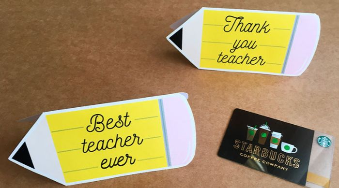 pencil gift card holder