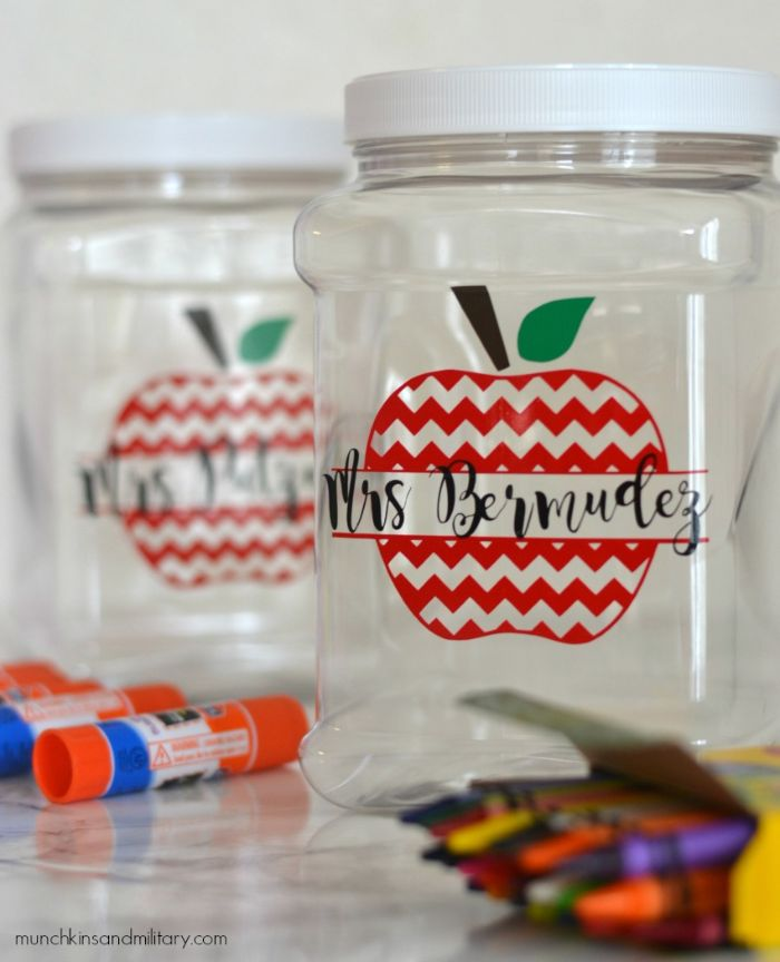 personalized supply jars