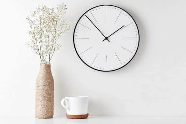minimalist decor on a white table with a white wall background
