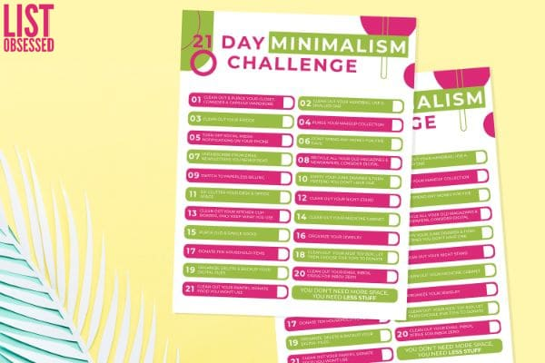 easy minimalism challenge